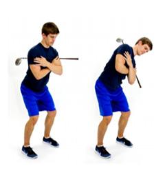 Chiropractic Vernon Hills IL Golf Stance Side Bend
