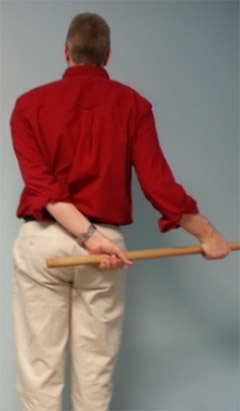 Chiropractic Vernon Hills IL Internal Rotation Stretch