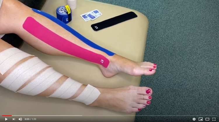 Taping Techniques For Lower Leg Pain in Vernon Hills